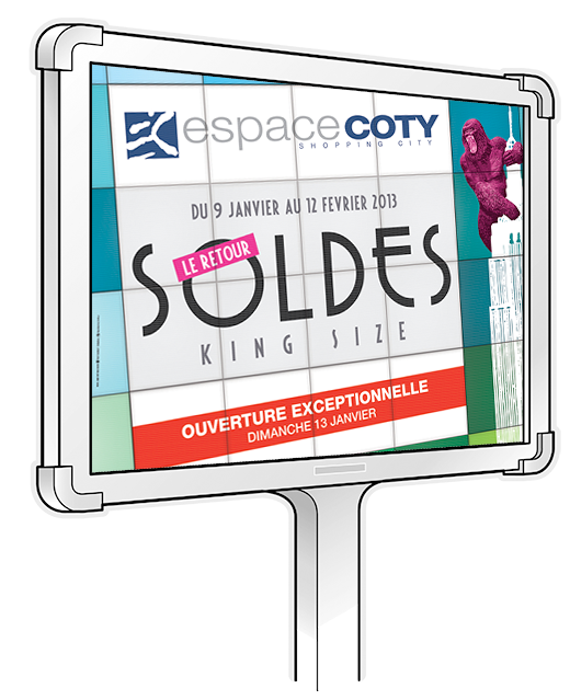 soldes king size centre commercial coty agence nomads