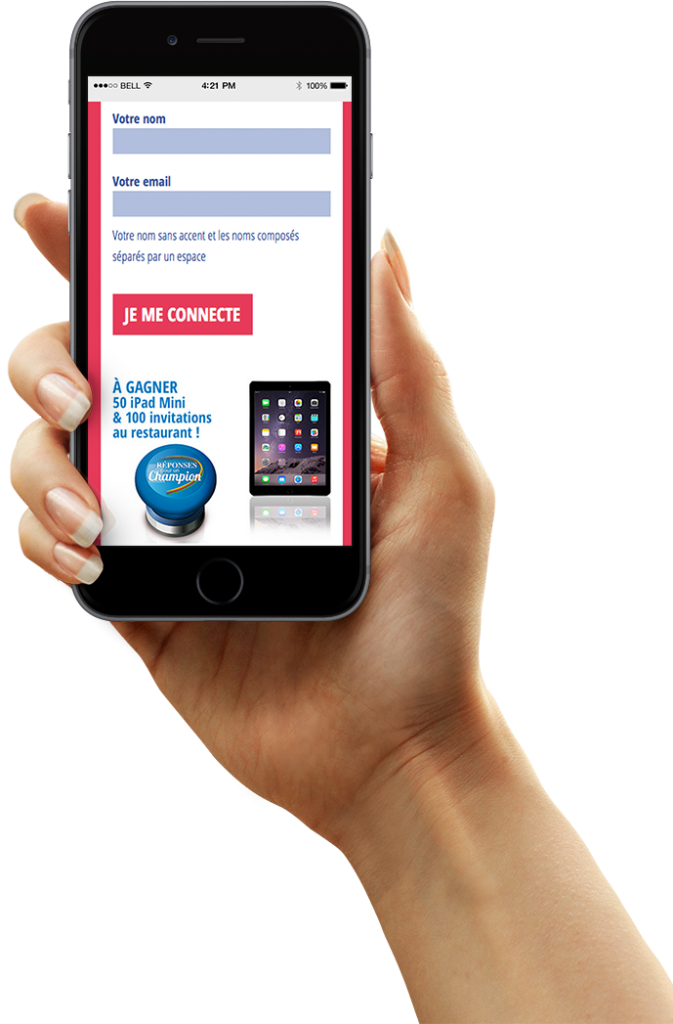 Version mobile du Quiz